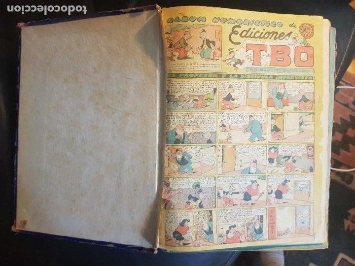 Tebeos: LOTE 28 TEBEOS/CÓMIC TOMO ORIGINAL EDICIONES TBO 1949- 1950 ENCUADERNADO ÁLBUM HUMORÍSTICO ALMANAQUE - Foto 4 - 219347090
