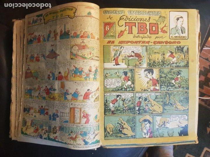 Tebeos: LOTE 28 TEBEOS/CÓMIC TOMO ORIGINAL EDICIONES TBO 1949- 1950 ENCUADERNADO ÁLBUM HUMORÍSTICO ALMANAQUE - Foto 9 - 219347090