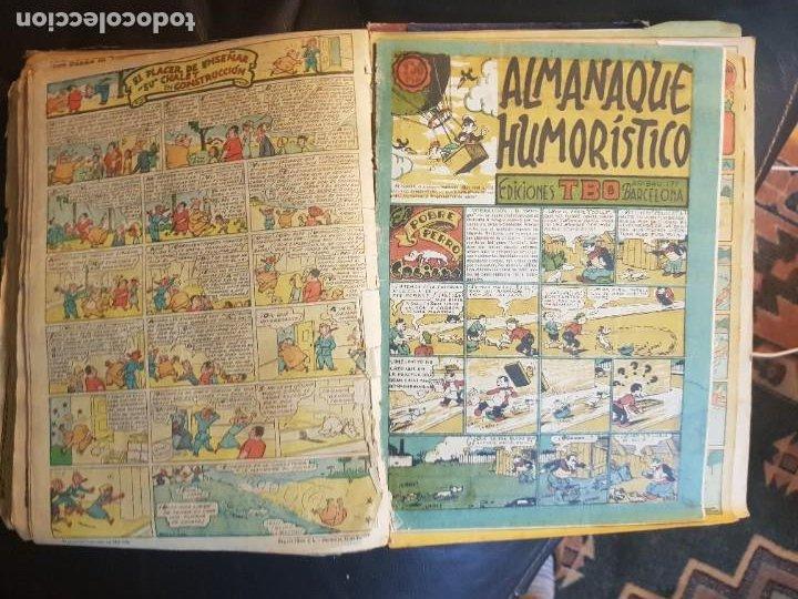 Tebeos: LOTE 28 TEBEOS/CÓMIC TOMO ORIGINAL EDICIONES TBO 1949- 1950 ENCUADERNADO ÁLBUM HUMORÍSTICO ALMANAQUE - Foto 10 - 219347090