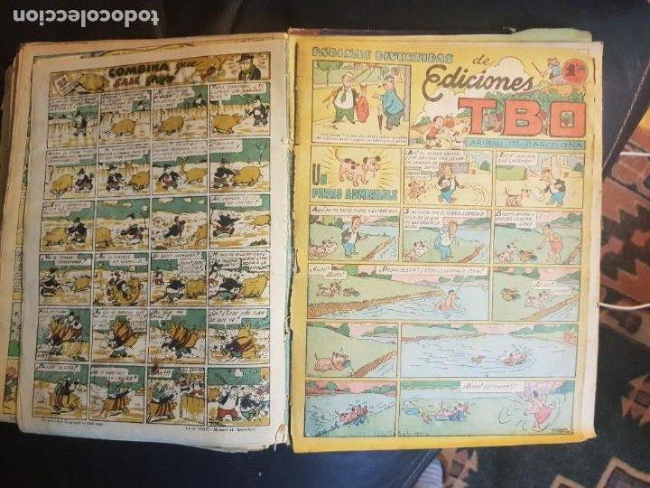 Tebeos: LOTE 28 TEBEOS/CÓMIC TOMO ORIGINAL EDICIONES TBO 1949- 1950 ENCUADERNADO ÁLBUM HUMORÍSTICO ALMANAQUE - Foto 12 - 219347090