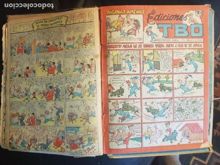 Tebeos: LOTE 28 TEBEOS/CÓMIC TOMO ORIGINAL EDICIONES TBO 1949- 1950 ENCUADERNADO ÁLBUM HUMORÍSTICO ALMANAQUE - Foto 13 - 219347090