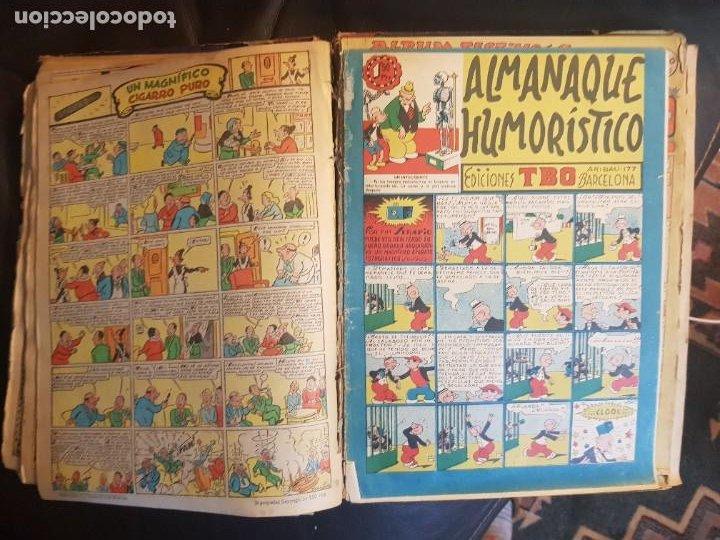Tebeos: LOTE 28 TEBEOS/CÓMIC TOMO ORIGINAL EDICIONES TBO 1949- 1950 ENCUADERNADO ÁLBUM HUMORÍSTICO ALMANAQUE - Foto 17 - 219347090