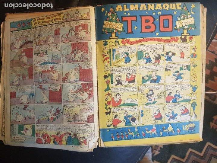 Tebeos: LOTE 28 TEBEOS/CÓMIC TOMO ORIGINAL EDICIONES TBO 1949- 1950 ENCUADERNADO ÁLBUM HUMORÍSTICO ALMANAQUE - Foto 25 - 219347090