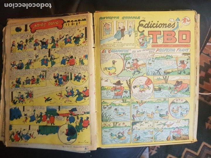 Tebeos: LOTE 28 TEBEOS/CÓMIC TOMO ORIGINAL EDICIONES TBO 1949- 1950 ENCUADERNADO ÁLBUM HUMORÍSTICO ALMANAQUE - Foto 27 - 219347090