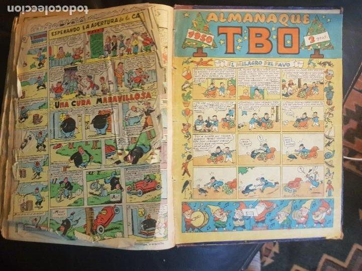 Tebeos: LOTE 28 TEBEOS/CÓMIC TOMO ORIGINAL EDICIONES TBO 1949- 1950 ENCUADERNADO ÁLBUM HUMORÍSTICO ALMANAQUE - Foto 30 - 219347090