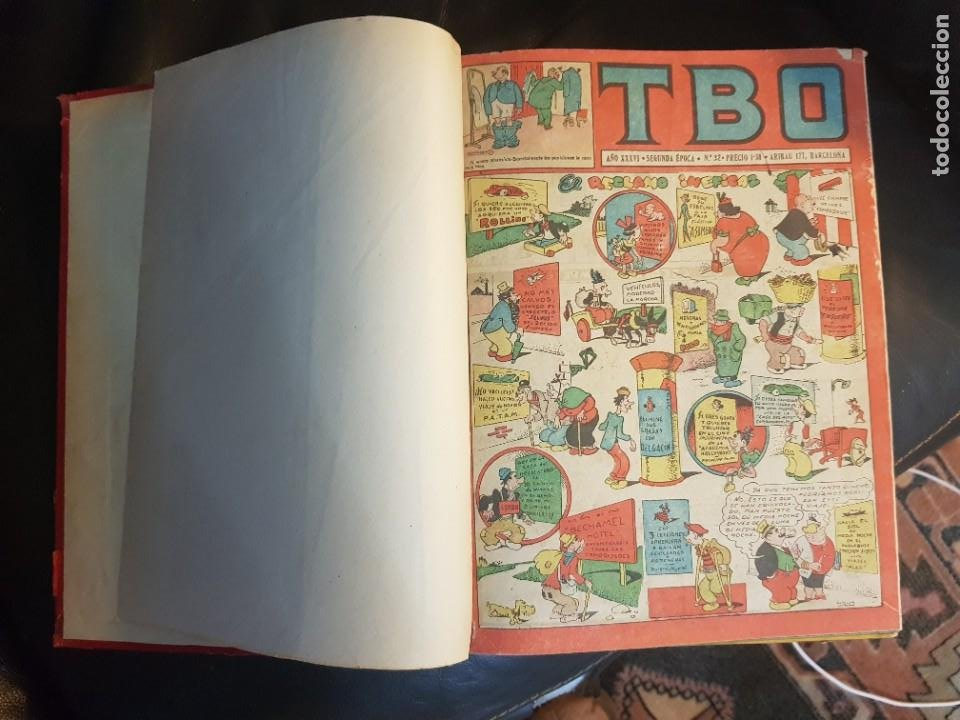 Tebeos: LOTE 26 TEBEOS/CÓMIC TOMO ORIGINAL TBO SEGUNDA ÉPOCA ENCUADERNADO ALMANAQUE 1954 (3) - Foto 3 - 219348117