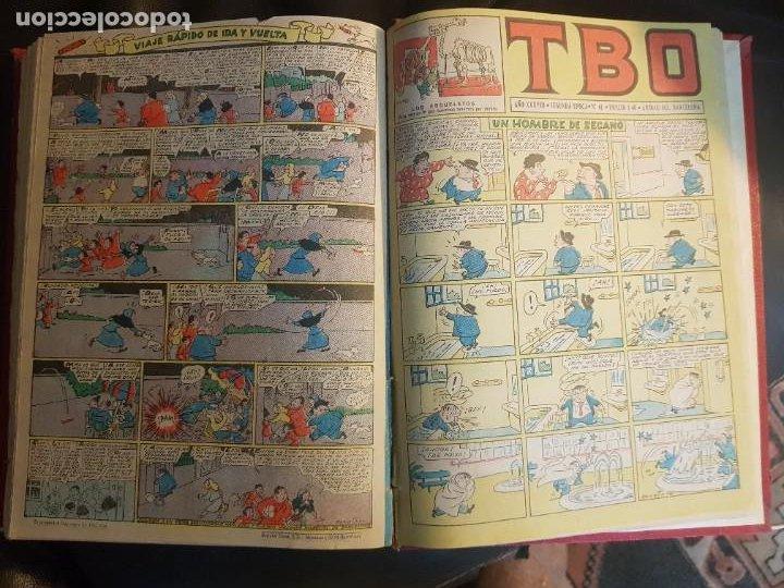 Tebeos: LOTE 26 TEBEOS/CÓMIC TOMO ORIGINAL TBO SEGUNDA ÉPOCA ENCUADERNADO ALMANAQUE 1954 (3) - Foto 8 - 219348117