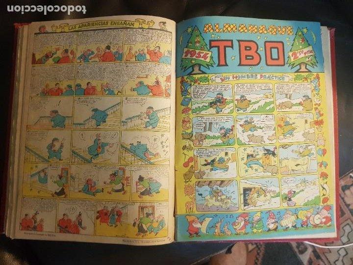Tebeos: LOTE 26 TEBEOS/CÓMIC TOMO ORIGINAL TBO SEGUNDA ÉPOCA ENCUADERNADO ALMANAQUE 1954 (3) - Foto 11 - 219348117