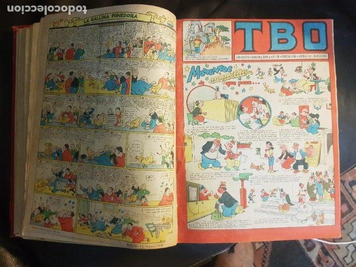 Tebeos: LOTE 26 TEBEOS/CÓMIC TOMO ORIGINAL TBO SEGUNDA ÉPOCA ENCUADERNADO ALMANAQUE 1954 (3) - Foto 13 - 219348117