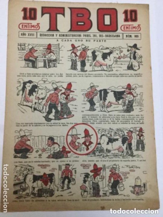 TBO- AÑO XVIII - 1934 - NUM.869 (Tebeos y Comics - Buigas - TBO)