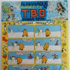 Tebeos: ALMANAQUE HUMORÍSTICO DE TBO PARA 1976 (SIN USAR, DE DISTRIBUIDORA). Lote 220943233