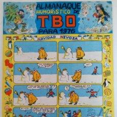 Tebeos: ALMANAQUE HUMORÍSTICO DE TBO PARA 1976 (SIN USAR, DE DISTRIBUIDORA). Lote 221935663