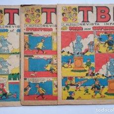 Tebeos: 3 REVISTAS TBO Nº 543 (1968), 602 (1969) 652 (1970). Lote 222029000