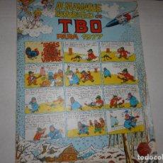 Tebeos: ALMANAQUE HUMORISTICO DE TBO PARA 1977 - CONTIENE EL BELÉN DE TBO -. Lote 224116581