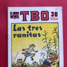 """Tebeos: EL CUENTO INFANTIL SUPLEMENTO DE TBO """"LAS TRES RANITAS"""". Lote 229521105"""