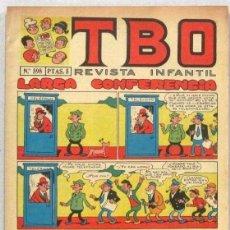 BDs: TBO REVISTA INFANTIL - Nº 598 - LARGA CONFERENCIA - COMIC. Lote 235035580
