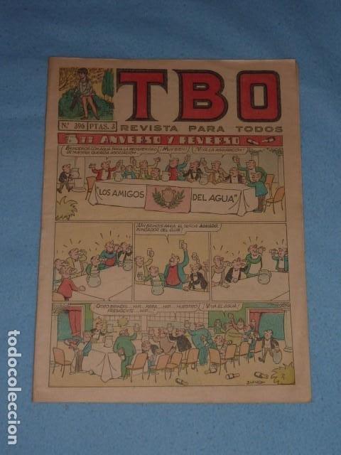 TBO ORIGINAL Nº 396 PTAS. 3 ANVERSO Y REVERSO LOS AMIGOS DEL AGUA (Tebeos y Comics - Buigas - TBO)