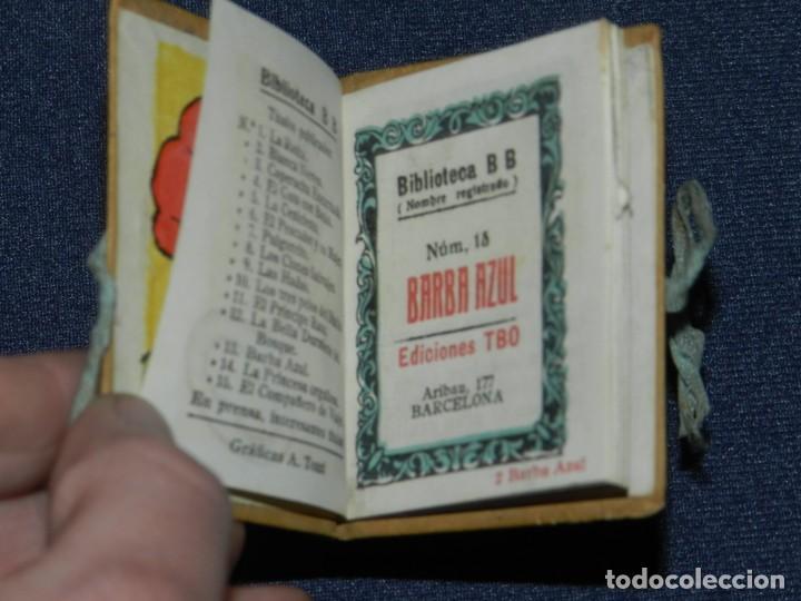 Tebeos: (M0) BIBLIOTECA B B BARBA AZUL - EDICIONES TBO, BENEJAM N.14, AÑOS 40 LIBRO EN MINIATURA - Foto 2 - 236194950