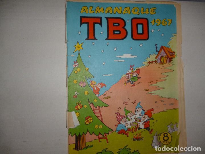 TBO ALMANAQUE 1967 - 8 PTAS - CONTIENE RECORTABLE DE BELÉN - (Tebeos y Comics - Buigas - TBO)