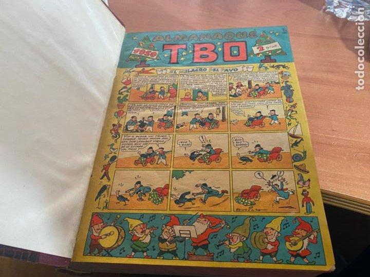 TBO TOMO CON 78 EJEMPLARES ALMANAQUE 1950 1951 1952 HUMORISTICO 53 Y 74 NO NUMERADOS (COIB191) (Tebeos y Comics - Buigas - TBO)