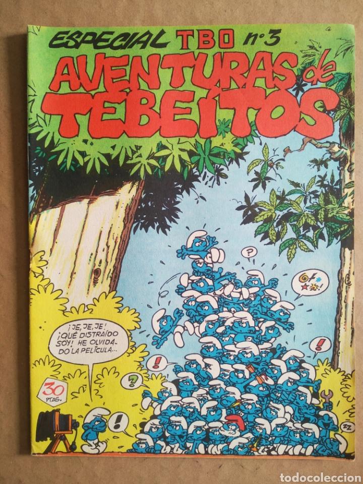ESPECIAL TBO N°3 AVENTURAS DE TEBEÍTOS (BUIGAS, ESTIVILL Y VIÑA, S.L., 1972). PITUFOS. (Tebeos y Comics - Buigas - Otros)