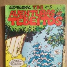 Tebeos: ESPECIAL TBO N°3 AVENTURAS DE TEBEÍTOS (BUIGAS, ESTIVILL Y VIÑA, S.L., 1972). PITUFOS.. Lote 241856745
