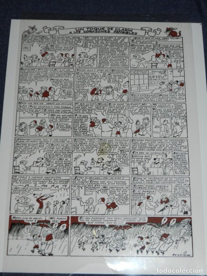 (M1) FOTOLITO BENEJAM - FAMILIA ULISES UN TOQUE DE CLARÍN A LOS CORAZONES (ORIGINAL) - 29 X 20 CM (Tebeos y Comics - Buigas - TBO)