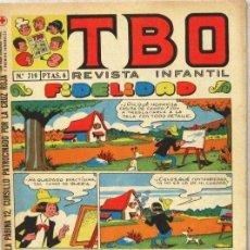 BDs: TBO - REVISTA INFANTIL - Nº 719 - COMIC. Lote 243171590