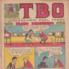 BDs: T B O : NUMERO 451 PLAZO INDEFINIDO, EDITORIAL BUIGAS. Lote 243181060