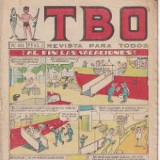 BDs: T B O : NUMERO 411 AL FIN LAS VACACIONES, EDITORIAL BUIGAS. Lote 243182390