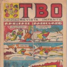 BDs: T B O : NUMERO 590 AMBIENTE INADECUADO, EDITORIAL BUIGAS. Lote 243186190
