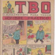 BDs: T B O : NUMERO 419 HOMBRE PRACTICO , EDITORIAL BUIGAS. Lote 243187160