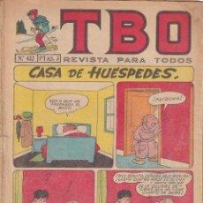 BDs: T B O : NUMERO 432 CASA DE HUESPEDES , EDITORIAL BUIGAS. Lote 243207025