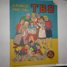 Tebeos: ALMANAQUE PARA 1964 - TBO - 6 PTAS - CONTIENE EL AÑO EN FIESTAS -. Lote 243900140