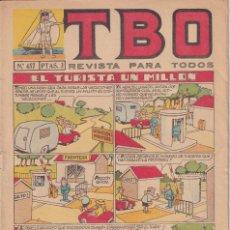 Tebeos: T B O : NUMERO 457 EL TURISTA UN MILLON , EDITORIAL BUIGAS. Lote 246103065