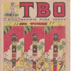Tebeos: T B O : NUMERO 403 NO TOCAR , EDITORIAL BUIGAS. Lote 246105035