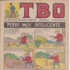 Tebeos: T B O : NUMERO 416 PERRO MUY INTELIGENTE , EDITORIAL BUIGAS. Lote 246105310