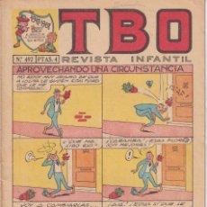 Tebeos: T B O : NUMERO 497 APROVECHANDO UNA CIRCUNSTANCIA , EDITORIAL BUIGAS. Lote 246107090