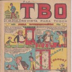 Tebeos: T B O : NUMERO 418 MALA INTERPRETACION , EDITORIAL BUIGAS. Lote 246110575