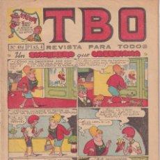 Livros de Banda Desenhada: T B O : NUMERO 484 UN SOMBRERO QUE OBSESIONA , EDITORIAL BUIGAS. Lote 246221425