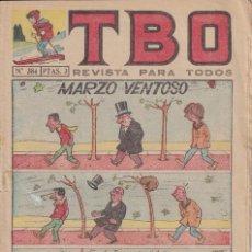 Livros de Banda Desenhada: T B O : NUMERO 384 MARZO VENTOSO , EDITORIAL BUIGAS. Lote 246221875