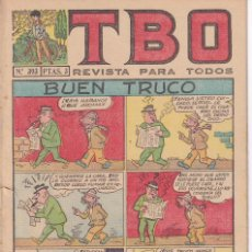Livros de Banda Desenhada: T B O : NUMERO 393 BUEN TRUCO , EDITORIAL BUIGAS. Lote 246277600