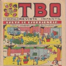 Tebeos: T B O : NUMERO 575 FALTA DE EXPERIENCIA , EDITORIAL BUIGAS. Lote 246278675