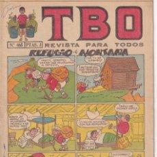Tebeos: T B O : NUMERO 465 REFUGIO DE MONTAÑA , EDITORIAL BUIGAS. Lote 246279590