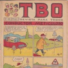 Tebeos: T B O : NUMERO 475 CONDUCTOR METICULOSO , EDITORIAL BUIGAS. Lote 246281035