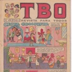 Tebeos: T B O : NUMERO 478 CESTA COMPLETA , EDITORIAL BUIGAS. Lote 246281425