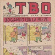 Tebeos: T B O : NUMERO 433 JUGANDO CON LA NIEVE , EDITORIAL BUIGAS. Lote 246282500
