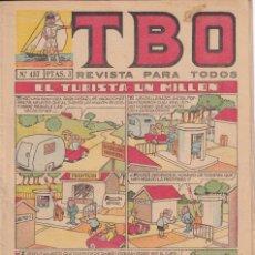 Tebeos: T B O : NUMERO 457 EL TURISTA UN MILLON , EDITORIAL BUIGAS. Lote 246282955