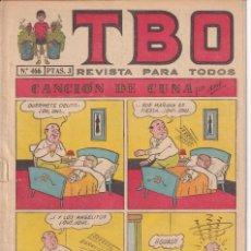 Tebeos: T B O : NUMERO 466 CANCION DE CUNA , EDITORIAL BUIGAS. Lote 246284065