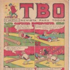 Tebeos: T B O : NUMERO 440 CAPTURA IMPREVISTA , EDITORIAL BUIGAS. Lote 246285155